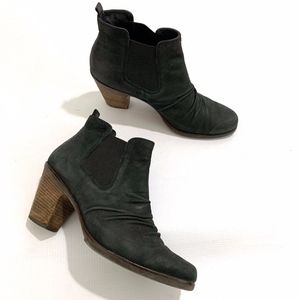 Paul Green Jano Nubuck Ruched Leather Ankle Boot